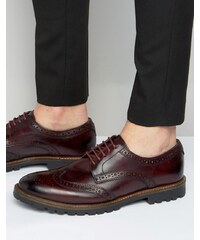 Base London - Trench - Chaussures richelieu en cuir - Rouge