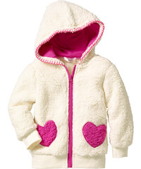 bpc bonprix collection Teddyfelljacke langarm in weiß für Mädchen von bonprix