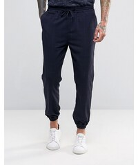 Pull&Bear - Pantalon resserré aux chevilles imprimé carreaux - Bleu marine - Bleu marine