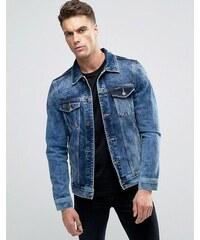 Pull&Bear - Veste en jean - Bleu délavé moyen - Bleu