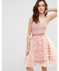 Pixie & Diamond - Trägerloses Babydoll-Kleid - Rosa