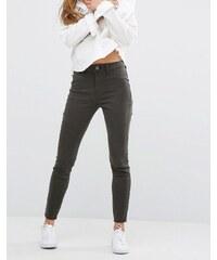 DL1961 Jessica Alba X DL No.2 - Hautenge, knöchellange Hose mit verdecktem Reißverschluss und ultrahohem Bund - Grün