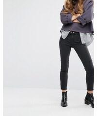 DL1961 Jessica Alba X DL No.4 - Instasculpt - Biker-Jeans mit kurzem Schnitt - Grau