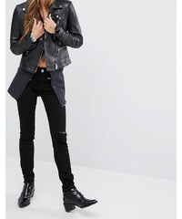 DL1961 Jessica Alba X DL No.3 - Instasculpt - Skinny-Jeans mit Reißverschluss-Details - Schwarz