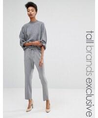 Y.A.S Tall - Monday - Pantalon ajusté - Gris
