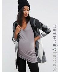 Noppies Maternity Noppies - Mode für Schwangere - Strickjacke mit Aufnähern - Mehrfarbig
