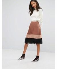 Miss Selfridge - Jupe plissée en mousseline color block - Multi