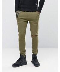 Sixth June - Pantalon de jogging skinny avec effet vieilli - Vert