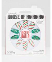 Elegant Touch - House of Ho Ho Ho - Deck The Halls - Kunstnägel - Mehrfarbig