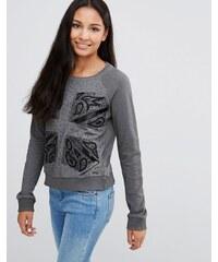 Pepe Jeans - Colleen London - Sweatshirt mit Flagge - Schwarz
