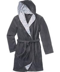 bpc bonprix collection Fleecebademantel langarm in grau für Damen von bonprix