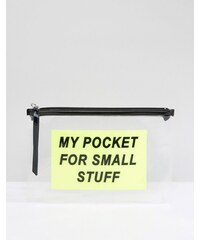 Monki - Pocket - Porte-monnaie zippé - Jaune