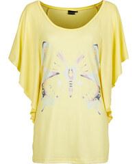 BODYFLIRT Fledermausshirt halber Arm in gelb für Damen von bonprix