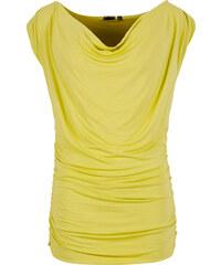 BODYFLIRT Top in grün (Wasserfall-Ausschnitt) für Damen von bonprix