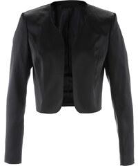 bpc selection premium Satin-Bolerojacke langarm in schwarz für Damen von bonprix