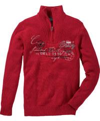 bpc selection Troyer-Pullover langarm in rot für Herren von bonprix
