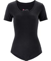 bpc bonprix collection Stretch-Body kurzer Arm in schwarz für Damen von bonprix