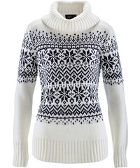 bpc bonprix collection Pullover langarm in weiß für Damen von bonprix