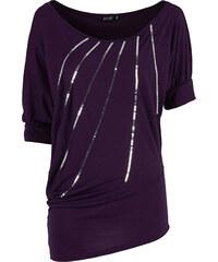BODYFLIRT Shirt halber Arm in lila (Rundhals) für Damen von bonprix