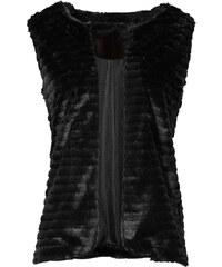 RAINBOW Weste aus Fellimitat ohne Ärmel in schwarz für Damen von bonprix