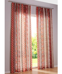 bpc living Vorhang Toskana (1er-Pack), Kräuselband in rot von bonprix