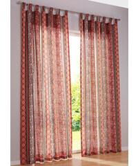 bpc living Vorhang Toskana (1er-Pack), Schlaufen in rot von bonprix