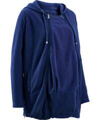 bpc bonprix collection Umstandsjacke aus Fleece mit Baby-Einsatz langarm in blau für Damen von bonprix