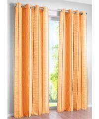 bpc living Vorhang Estelle, (1er-Pack), Ösen in orange von bonprix