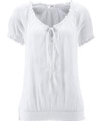 bpc bonprix collection Tunika, Kurzarm in weiß von bonprix