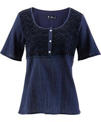 bpc bonprix collection Tunika mit kurzen Ärmeln kurzer Arm in blau von bonprix