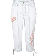 John Baner JEANSWEAR Stretch-Jeans-Capri in weiß für Damen von bonprix