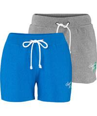 bpc bonprix collection Sweat-Shorts 2er-Pack in blau für Damen von bonprix