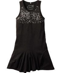 bpc bonprix collection Kleid mit Pailletten, Normal ohne Ärmel in schwarz von bonprix