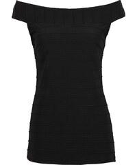 BODYFLIRT Shirt ohne Ärmel in schwarz (Carmen-Ausschnitt) für Damen von bonprix