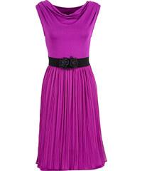 BODYFLIRT Kleid ohne Ärmel in lila (Wasserfall-Ausschnitt) von bonprix