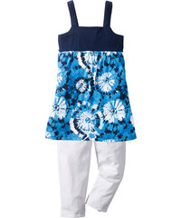 bpc bonprix collection Kleid + 3/4-Leggings (2-tlg.) ohne Ärmel in blau für Mädchen von bonprix