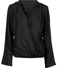 BODYFLIRT Bluse mit Kapuze langarm in schwarz von bonprix