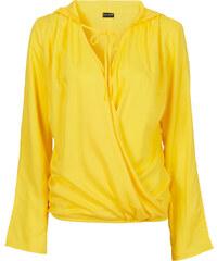 BODYFLIRT Bluse mit Kapuze langarm in gelb von bonprix