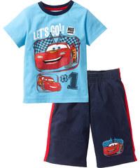 T-Shirt + Bermuda Cars kurzer Arm in blau für Jungen von bonprix
