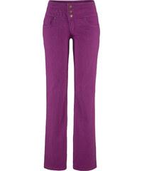 John Baner JEANSWEAR Stretch-Jeans Bauch-Weg-Bootcut, Kurz in lila für Damen von bonprix