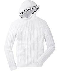 RAINBOW Pullover langarm in weiß für Herren von bonprix