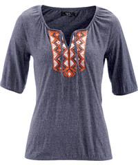 bpc bonprix collection Shirt-Tunika mit halbem Arm in blau für Damen von bonprix