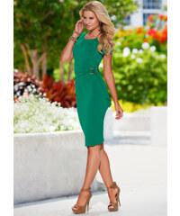 BODYFLIRT boutique Kleid mit Gürtel/Sommerkleid in grün von bonprix