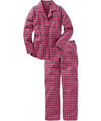 bpc bonprix collection Flanell Pyjama langarm in blau für Damen von bonprix