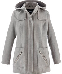 bpc bonprix collection Jacke in Woll-Optik langarm in grau für Damen von bonprix