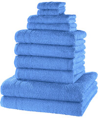 bpc living Handtuchset New Uni (10-tlg.) in blau von bonprix