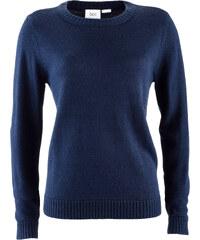 bpc bonprix collection Pullover langarm in blau (Rundhals) für Damen von bonprix