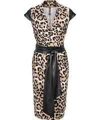 BODYFLIRT boutique Kleid/Sommerkleid in braun von bonprix