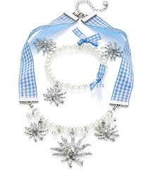 bpc bonprix collection Set Collier & Armband Karo + Perle in blau für Damen von bonprix