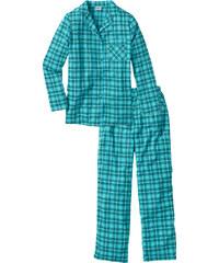 bpc bonprix collection Flanell Pyjama langarm in grau für Damen von bonprix